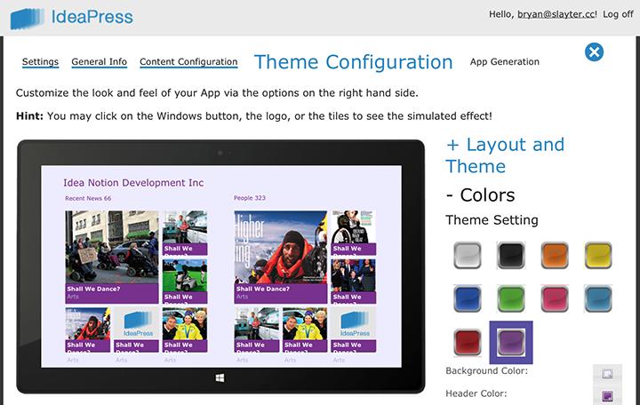 Theme configuration image