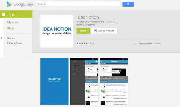IdeaNotion Android App